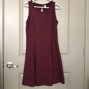 Maroon flare dress